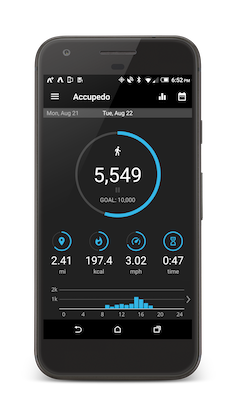 Accupedo pedometer for Android phone