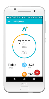 Accupedo+ pedometer for Android phone